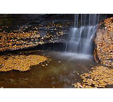 water in fall Photographic Print