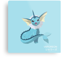 Vaporeon Low Poly Metal Print