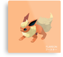 Flareon Low Poly Metal Print