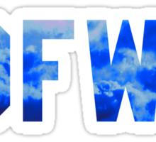 Big Sean 'IDFWU' Cobalt Clouds Sticker