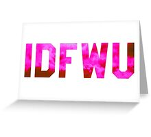 Big Sean 'IDFWU' Red/Pink Clouds Greeting Card