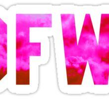 Big Sean 'IDFWU' Red/Pink Clouds Sticker