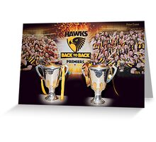 Back to Back Premiers Greeting Card