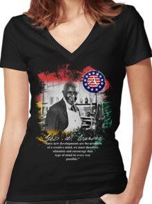 george washington carver Women's Fitted V-Neck T-Shirt