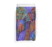 Purple Feathers Duvet Cover