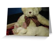 Snuggle Bear Greeting Card