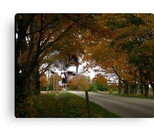 Halloween Highway Canvas Print