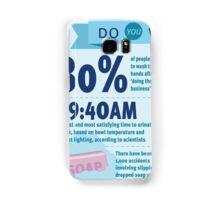 Wee at Work Infographic  Samsung Galaxy Case/Skin
