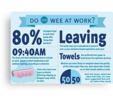 Wee at Work Infographic  Canvas Print