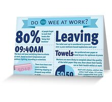 Wee at Work Infographic  Greeting Card