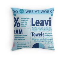 Wee at Work Infographic  Throw Pillow