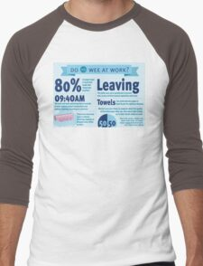 Wee at Work Infographic  Men's Baseball ¾ T-Shirt