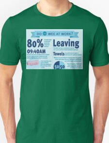 Wee at Work Infographic  T-Shirt