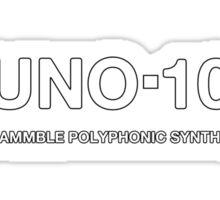 Juno 106 Synthesizer  Sticker