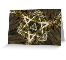 Natural Star of David Greeting Card