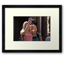 Photographers craft Framed Print