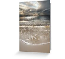 A Soft, Silver Evening Greeting Card