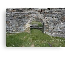 Cross church door Canvas Print