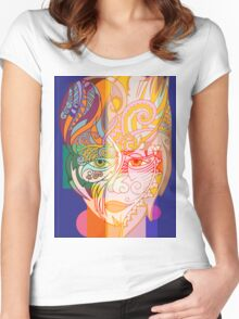 Girl in blue Women's Fitted Scoop T-Shirt