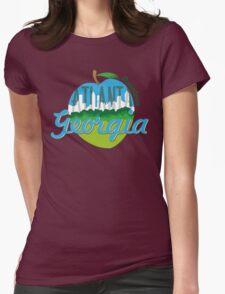 Downtown Atlanta Georgia Womens Fitted T-Shirt