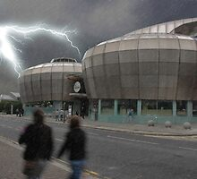 Lightning Storm Over The HUBS by Nathan Walker
