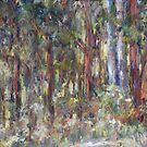 Sunlight through the trees - Gum Scrub paint out by Terri Maddock