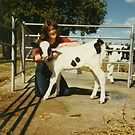 Me at 16 with Calf by Anthea  Slade