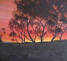 Detail Aireys Inlet, Acrylic painting on canvas by Ken Tregoning