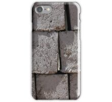 Stacked Gray Bricks iPhone Case/Skin