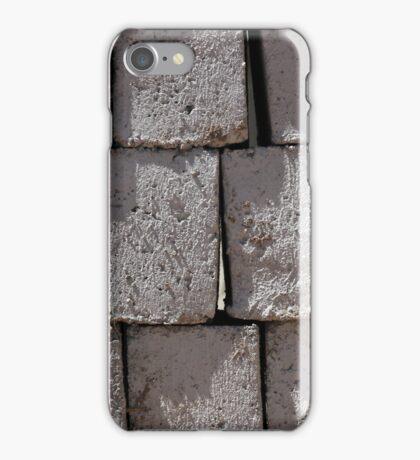 Stacked Gray Bricks iPhone Case/Skin
