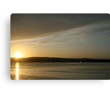 Dusk at Black Rock Canvas Print
