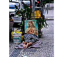Comfort on the street. Rio, Brazil Photographic Print