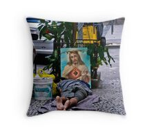 Comfort on the street. Rio, Brazil Throw Pillow