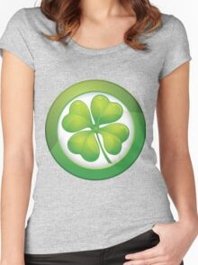 Saint Patrick's Day, Four Leaf Clovers Women's Fitted Scoop T-Shirt