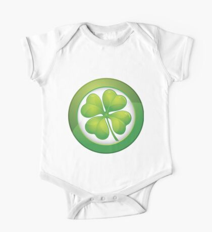 Saint Patrick's Day, Four Leaf Clovers One Piece - Short Sleeve