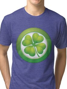 Saint Patrick's Day, Four Leaf Clovers Tri-blend T-Shirt