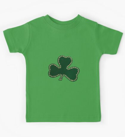 Saint Patrick's Day, Four Leaf Clovers - Green Kids Tee
