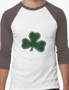 Saint Patrick's Day, Four Leaf Clovers - Green Men's Baseball ¾ T-Shirt
