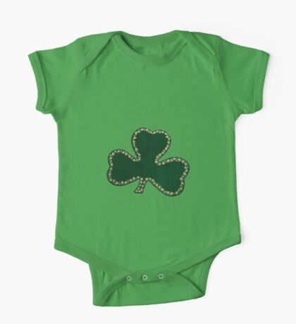 Saint Patrick's Day, Four Leaf Clovers - Green One Piece - Short Sleeve
