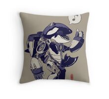 Cyb-Orca Throw Pillow