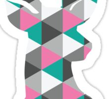 Deer Head Triangles Sticker