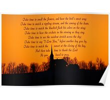 Church at Sundown - Poem  -  Take Time Poster