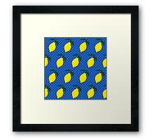 Lemon pop Framed Print