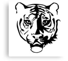 Black tiger Canvas Print