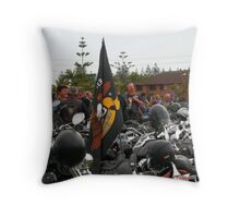 Saddle Bags and Helmets Throw Pillow