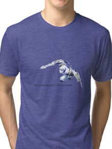 Shockbalde Zed - The unseen blade is the deadliest. Tri-blend T-Shirt