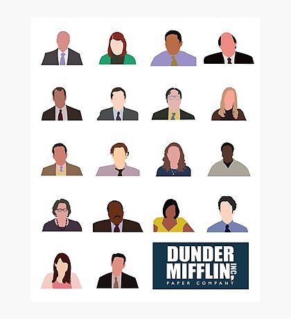 Dunder Mifflin Rolecall! Photographic Print