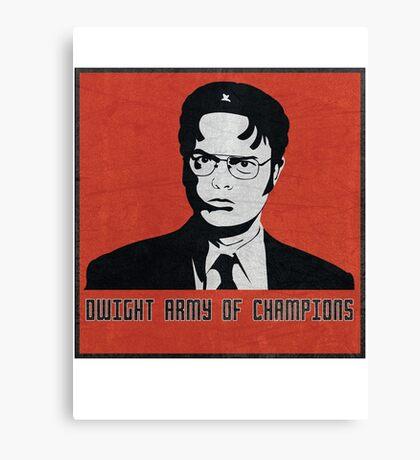 Dwight's Army Canvas Print