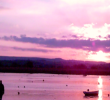 Sunset Sillhouette Sticker