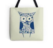 Retro Blue Owl Tote Bag